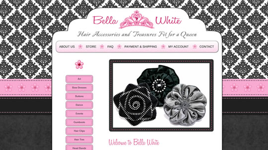 bella white home page