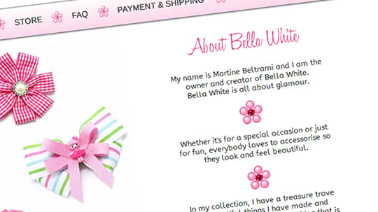 bella white page