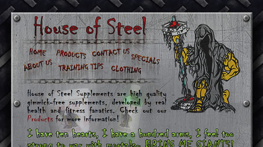 houseofsteel home page